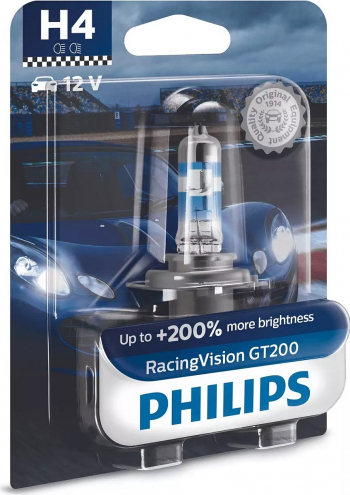 Bec auto Philips H4 Racing Vision GT200 +200 12V 55W