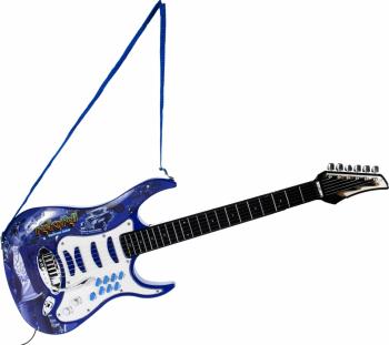 Chitara albastra cu microfon+amplificator Malplay 107282