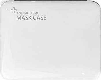Cutie portabila pentru depozitare si protectie masca faciala plastic Alb Masti chirurgicale si reutilizabile