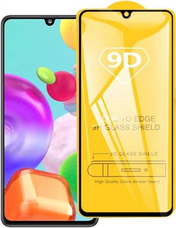 Folie de sticla securizata 9D Samsung A41 neagra anti-amprenta adeziv full screen protectiva