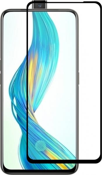 Folie de sticla securizata Oppo Realme X super-rezistenta 9H neagra antisocuri full screen marca Enkay