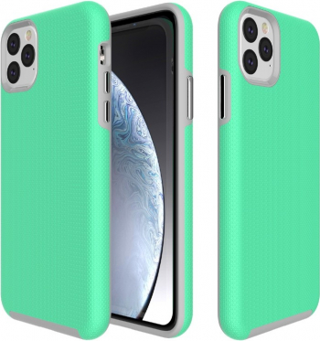 Husa antialunecare iPhone 11 Pro Max verde stil Armor material tpu si policarbonat rezistenta Huse Telefoane