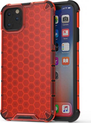 Husa antisoc iPhone 11 Pro Max rosie model honeycomb policarbonat si tpu protectiva si rezistenta Huse Telefoane