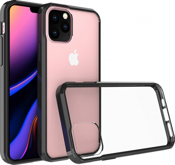 Husa antisoc iPhone 11 Pro negru si transparent protectiva tpu si policarbonat Huse Telefoane