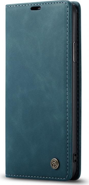 Husa book cover iPhone 11 Pro Max albastra originala CaseMe Multifunctionala piele functie portofel cu suport si sloturi Huse Telefoane