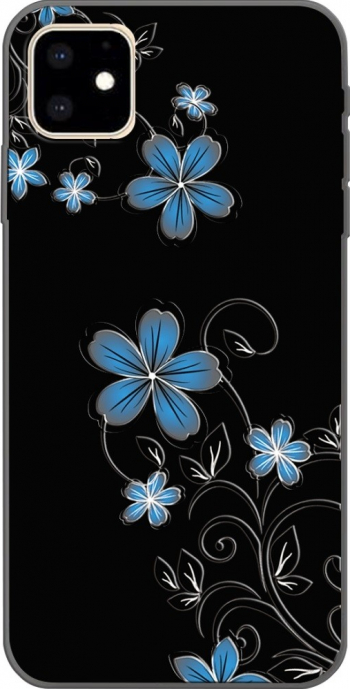 Husa design Small Orchid iPhone 11 Pro neagra material tpu subtire si usoara Huse Telefoane