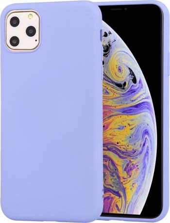 Husa din silicon iPhone 11 Pro albastru deschis seria Colorful model Liquid Silicon de la Mutural Huse Telefoane