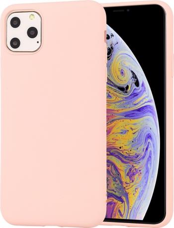 Husa din silicon iPhone 11 Pro roz seria Colorful model Liquid Silicon de la Mutural Huse Telefoane