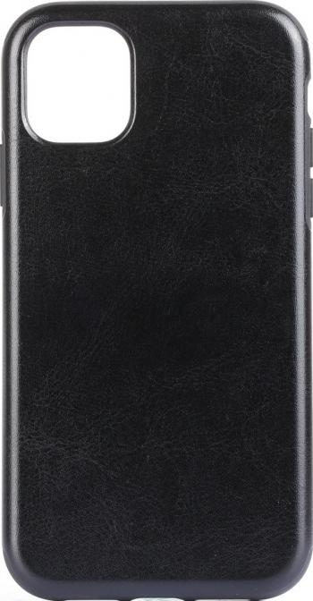 Husa eleganta piele artificiala si tpu iPhone 11 Pro Max neagra durabila si protectiva Huse Telefoane