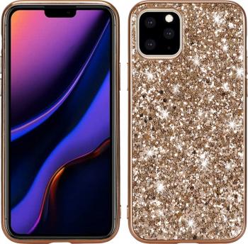 Husa fashion model Glittery Powder iPhone 11 Pro gold stil stralucitoare