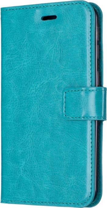 Husa flip book cover iPhone 11 Pro albastra textura Crazy Horse slot card si poza functie portofel si stand Huse Telefoane