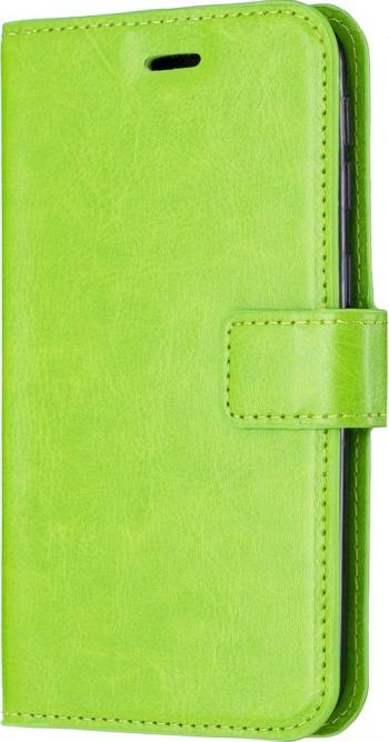 Husa flip book cover iPhone 11 Pro Max verde textura Crazy Horse slot card si poza functie portofel si stand Huse Telefoane