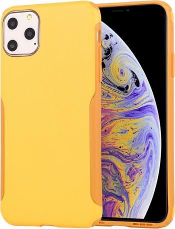 Husa iPhone 11 Pro galbena tpu si policarbonat seria Protector protectiva originala Mutural Huse Telefoane