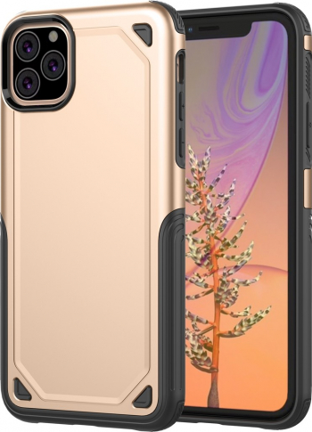 Husa iPhone 11 Pro Max gold model Ultra-thin antisocuri stil Mechanic material tpu si policarbonat Huse Telefoane