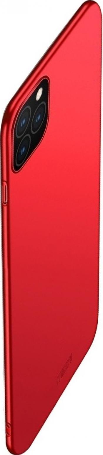 Husa iPhone 11 Pro Max rosie policarbonat ultra-thin frosted subtire Mofi Huse Telefoane
