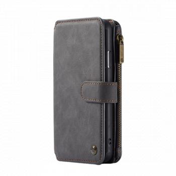 Husa multifunctionala detasabila iPhone 11 Pro Max neagra originala CaseMe piele sloturi tip portofel Huse Telefoane