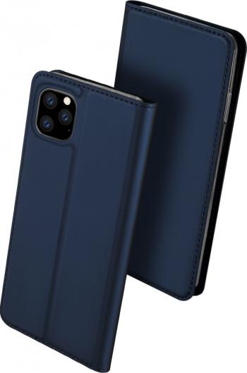 Husa originala Dux Ducis iPhone 11 Pro albastra piele si tpu functie suport si sloturi eleganta Huse Telefoane