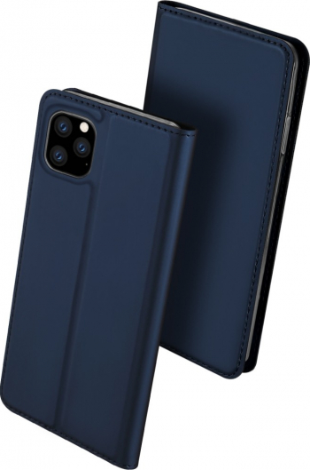 Husa originala Dux Ducis iPhone 11 Pro Max albastra piele si tpu functie suport si sloturi eleganta Huse Telefoane
