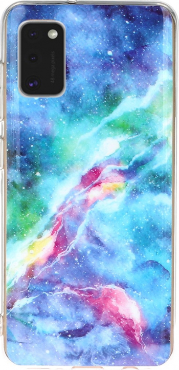 Husa Samsung A41 multicolor material tpu model Marble Blue