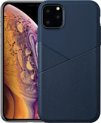 Husa subtire din tpu iPhone 11 Pro Max albastru design imitatie piele anti-amprenta Huse Telefoane