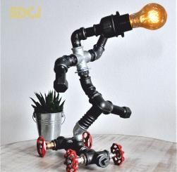lampa skateboard steampunkdesigncj lampa steampunk corp de iluminat Corpuri de iluminat
