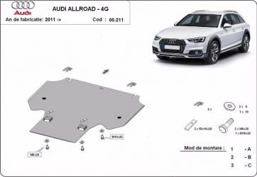 Scut auto metalic cutie de viteza Audi A6 / toate motorizarile / 2011- Audi A7 / toate motorizarile / 2011- Scuturi auto