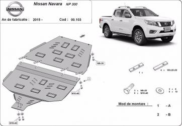 Scut auto metalic cutie de viteza + diferential Nissan Navara / toate motorizarile / 2015- Scuturi auto
