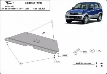 Scut auto metalic cutie de viteza pentru Daihatsu Terios / toate motorizarile / 1997-2006 Scuturi auto