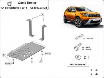 Scut auto metalic diferential MTR DACIA DUSTER Scuturi auto