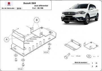 Scut auto metalic diferential pentru Suzuki Vitara / 4X4 / 2015 and ndash Scuturi auto