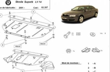 Scut auto metalic motor Audi A4 1997- Skoda Superb 2001- 2008 Volkswagen Passat 1997 Scuturi auto