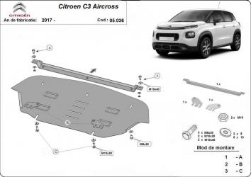 Scut auto metalic motor Citroen C 3 Aircross / toate motorizarile / 2017 and ndash Scuturi auto