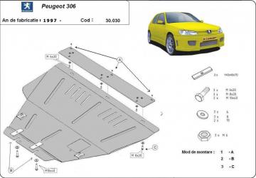 Scut auto metalic motor cutie de viteza Citroen Berlingo Citroen Xsara Xsara Picasso Peugeot 306 Peugeot Partner Scuturi auto
