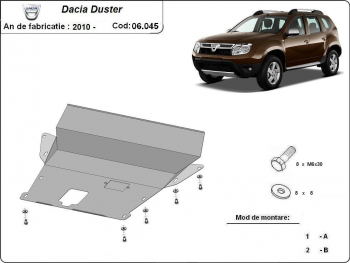 Scut auto metalic motor cutie de viteza Dacia Duster / toate motorizarile / 2010 and ndash Scuturi auto