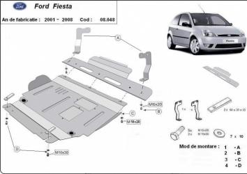 Scut auto metalic motor cutie de viteza Ford Fiesta 2001-2008 Mazda 2 2003-2007 Scuturi auto