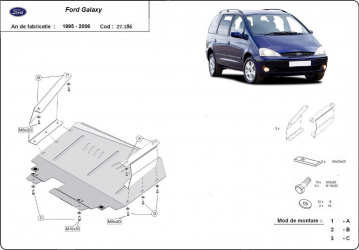 Scut auto metalic motor cutie de viteza Ford Galaxy 1995-2006 Seat Alhambra 1999- Volkwagen Sharan 1999- Scuturi auto