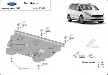 Scut auto metalic motor cutie de viteza Ford Mondeo V / toate motorizarile / 2015- Scuturi auto