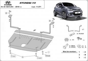Scut auto metalic motor cutie de viteza Hyundai Solaris / toate motorizarile / 2010- Kia Rio 3 / toate motorizarile / 2011- Scuturi auto