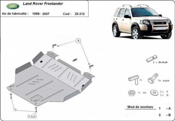 Scut auto metalic motor cutie de viteza LandRover Freelander / toate motorizarile / -2007 Scuturi auto