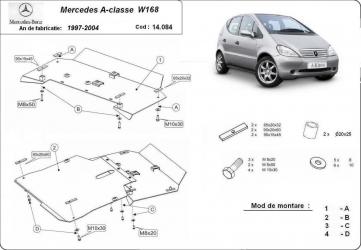 Scut auto metalic motor cutie de viteza Mercedes A-Classe W168 1997-2004 Mercedes Vaneo 2001-2006 Scuturi auto