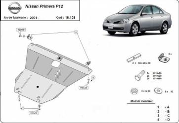 Scut auto metalic motor cutie de viteza Nissan Primera P12 / toate motorizarile / 2001 and ndash Scuturi auto