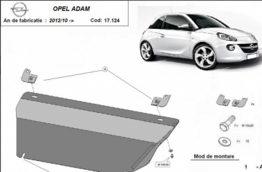 Scut auto metalic motor cutie de viteza Opel Adam / toate motorizarile / 2012/10- Scuturi auto