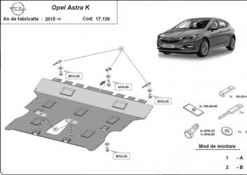 Scut auto metalic motor cutie de viteza Opel Astra K / toate motorizarile / 2015- Scuturi auto