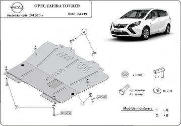Scut auto metalic motor cutie de viteza Opel Zafira C / toate motorizarile / 2011- Scuturi auto