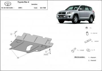 Scut auto metalic motor cutie de viteza Toyota RAV 4 / 2 4 / 2006- Scuturi auto