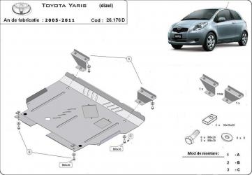 Scut auto metalic motor cutie de viteza Toyota Yaris dizel / dizel / 2005-2011 Scuturi auto