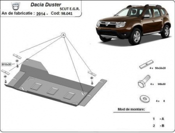 Scut auto metalic motor Dacia Duster scut EGR / toate motorizarile / 2014- Scuturi auto