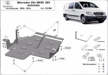 Scut auto metalic motor Mercedes Viano / 2003-2014 Scuturi auto