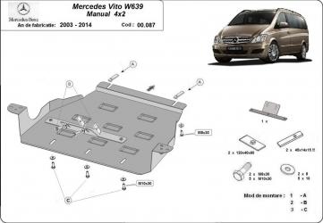 Scut auto metalic motor Mercedes Viano / 4 and times 2 / 2003-2014 Scuturi auto