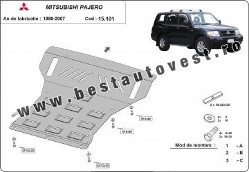 Scut auto metalic motor Mitsubishi Pajero III / 3.5 Gdi 2.5 Tdi 3.2 Di-d /V60 V70 / 2000-2007 Scuturi auto